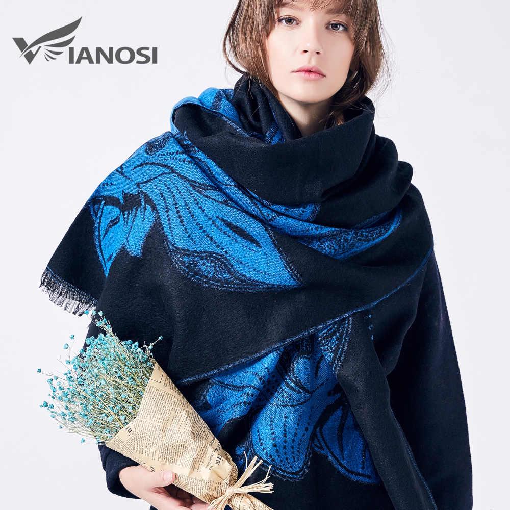VIANOSI de marca para el invierno, bufanda de las mujeres mantón caliente suave de moda Cachecol espesar largo bufanda Echarpe de las mujeres
