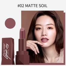 MUSIC ROSE Lipstick Matte Waterproof Velvet Lip Stick 7 Colors Sexy Red Brown Pigments Makeup Lipsticks Beauty Lips