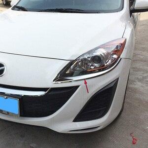 2 шт., хромированный серебристый светильник с передней головкой для Mazda 3 2010 2011 2012