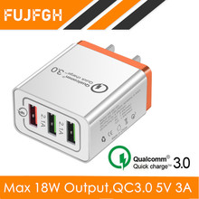 Universal 18W USB Quick Charge 3.0 5V 3A For Huawei P20 EU US Plug Mobile Phone Fast Charger Charging For Samsug S8 S9 iPhone 8 3 usb quick charge 3 0 5v 3a eu us for iphone 7 8 eu us plug mobile phone fast charger charging for samsug s8 s9 xiaomi note 7