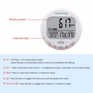 Image 2 - AZ7788 Indoor air quality monitor CO2 detector tester meter gas detector Thermometer hygrometer humity CO2 monitor gas Analyzer