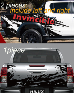 Image 2 - Car Decals Side Door Rear Trunk Mud Splash Graphic Vinyl Car Stickers Fit For TOYOTA HILUX Invincible 2015 2016 2017 2018 2019