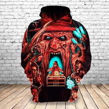 2019 New Sweatshirt Customize Horror Freddy 3D Printed Hoodies Unique Pullovers Tops Men Clothing Drop Shipping