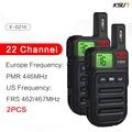 Мини-рация KSUN GZ10 1 или 2 шт., Портативная радиостанция с европейской юридической частотой PMR446, внутренняя связь FRS, двухсторонняя радиосвязь д...