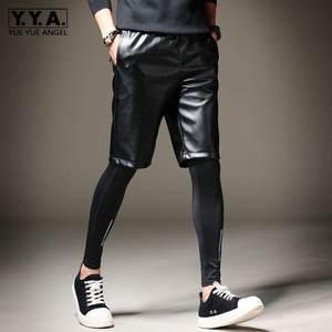 Shorts Streetwear Korean Harem-Pants Elastic-Waist Knee-Length Summer Casual Mens New