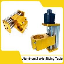 Módulo de eje Z CNC 3018 Plus, Mesa Deslizante de eje Z de aluminio, compatible con el uso de husillo de 300W o 500W aplicable para Motor paso a paso Nema17/42H