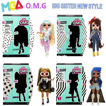 LOL Surprise! OMG  Super Big Sister Exquisite Fashion Matching Simulation Doll Set Joint Movable Girl Toy  Box Christmas Present l o l surprise lol surprise doll big sister cherry glam glitter series 2