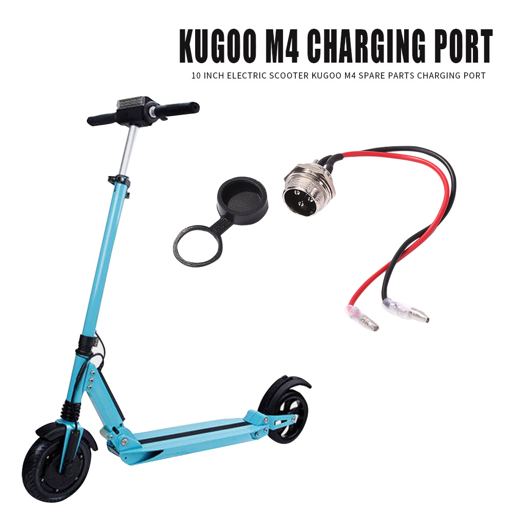 10 inch Electric Scooter Power Charging Interface for Kugoo M4 Kick Scooter Electric Scooter Accessories Replace Parts