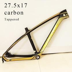 Nuevo 27,5 17 pulgadas Cuadro De Carbono tappred 41,8*52mm Marco de carbono completo MTB Cuadro de bicicleta de montaña cuadros de bicicleta