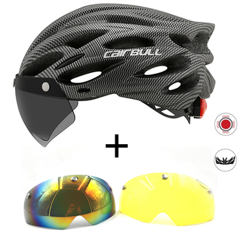 Bicycle with One-piece mountain mtb road bike helmet Breathable Bilateral Powermeter Removable riding Casco Ciclismo accessorie