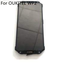 Oukitel wp2 usado display lcd + tela de toque + quadro para oukitel wp2 mt6750t octa core 6.0 polegada 2160*1080 hd smartphone