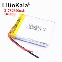 XSL-batería recargable de polímero de iones de litio para lámpara alimentada por energía Solar, batería de 3,7 V, 104050, 2500mah, Radio y GPS