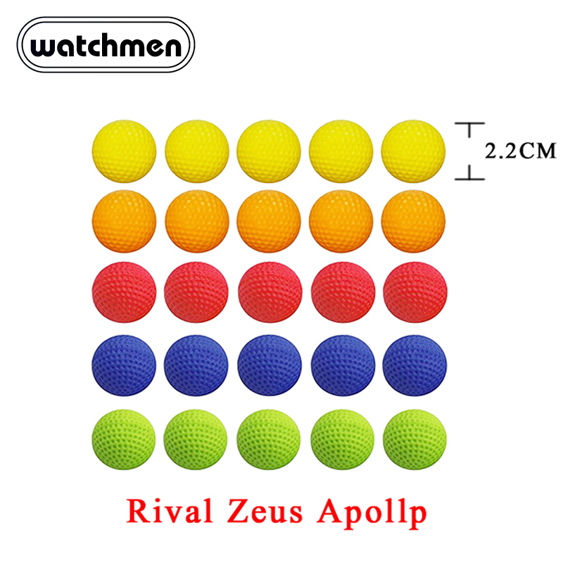 100pcs Ball Bullets For Rival Zeus Apollo Nerf Toy Gun Ball Dart For Nerf Rival Apollo Zeus Gun