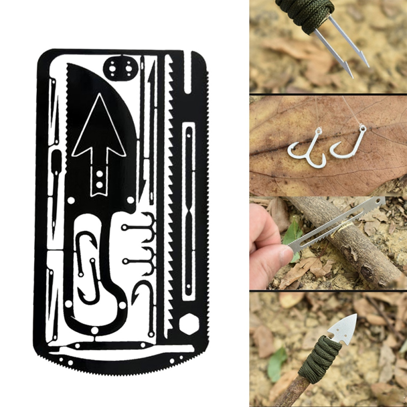 22 In 1 Fishing Gear  Multi-Tool Outdoor Camping Survival Tools Hunting Emergency Survival EDC Kit