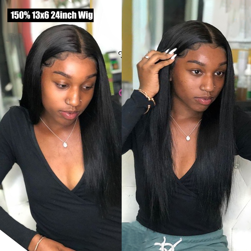 Straight Lace Front Wig Peruvian 134 136 Lace Front Human Hair Wigs Lemoda 150% Remy 360 Lace Frontal Wigs For Black Women (1)