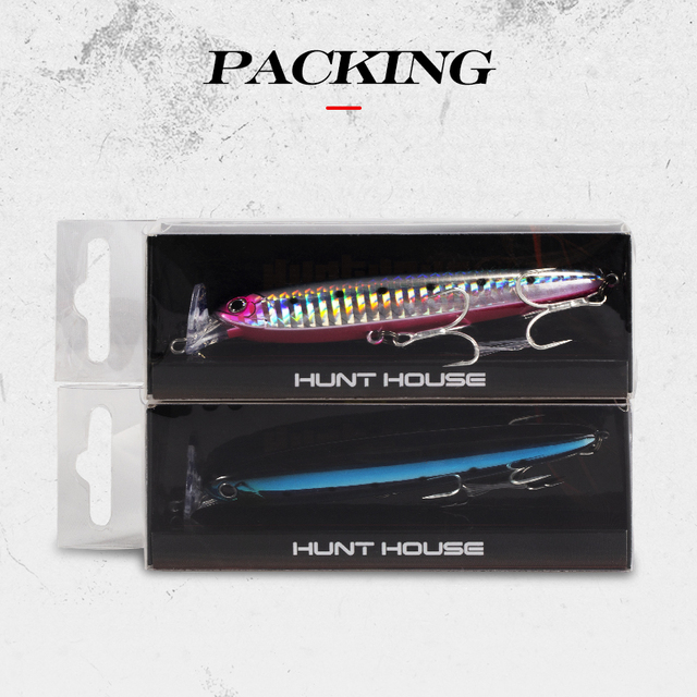 Best Hunthouse Minnow pencil lures 75 95mm 13g 22g Fishing Lures cb5feb1b7314637725a2e7: 001|002|003|004|005|006