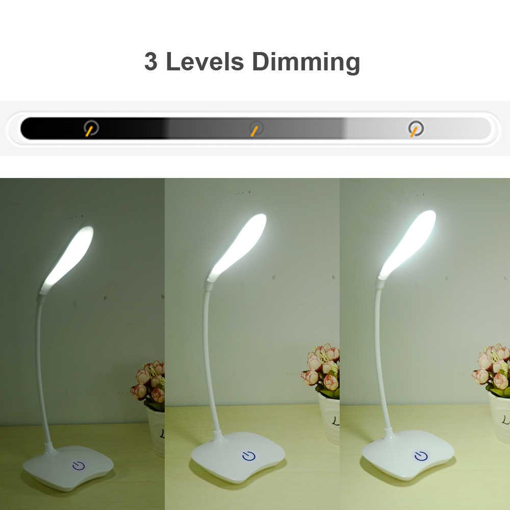 שולחן מנורות שולחן מנורה נטענת LED מנורת שולחן LED תלמיד מחקר משרד שולחן למעלה פנסי לקריאה משרד שולחן Led
