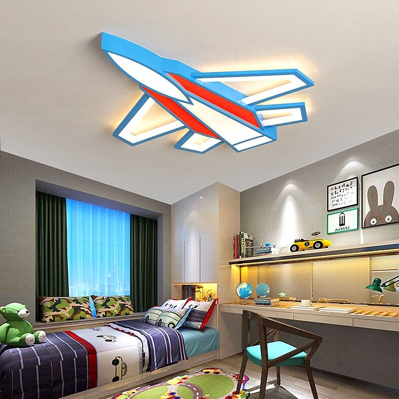 Créatif avion lustres plafond pour chambre d'enfant bébé chambre lustre moderne LED de décoration pour la maison lustre éclairage