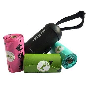 Pet N PET Dog Poop Sacchetti di Terra-Friendly 3 Rolls con 1 Distributore di Sacchetti Dei Rifiuti Cane Cane Pooper Scooper diversi colori tra cui scegliere 1