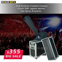stage co2 confetti machine stage effect confetti cannon hand control co2 blaster jet 10m Flight case packing