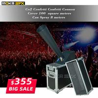 stage co2 confetti machine stage effect confetti cannon hand control co2 blaster jet 10m Flight case packing