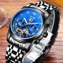 Montre オム TEVISE メンズ腕時計高級自動機械式時計男性コンプリートカレンダースケルトン腕時計ファッション防水時計