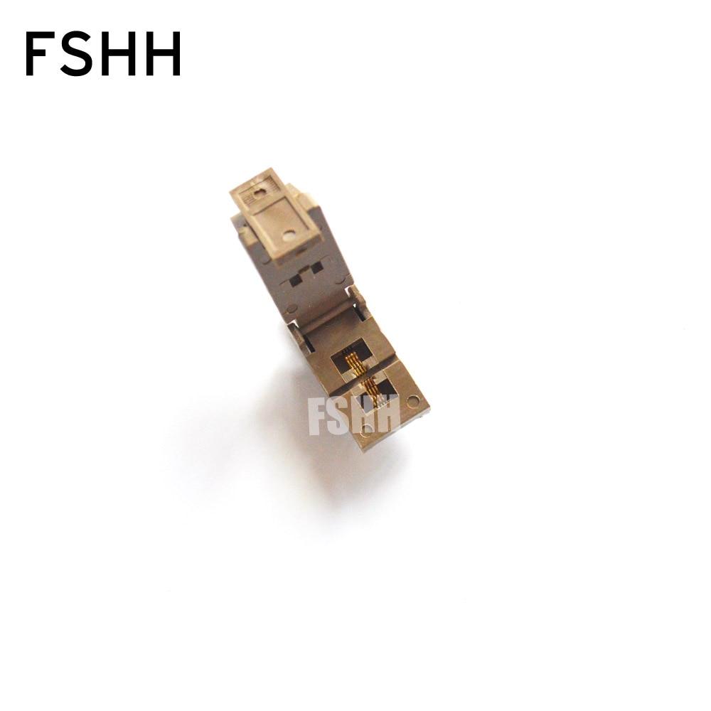 FSHH QFN8 Adapter DFN8 MLF8 WSON8 Test Socket Pitch=0.5mm Size=2mm*3mm