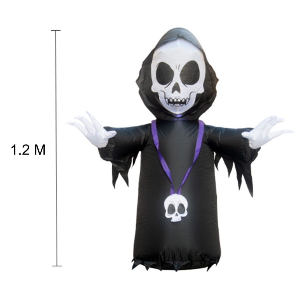120cm Halloween LED Light Inflatable Ghost Skeleton Dolls Yard Decoration Outdoor Market