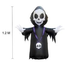 120cm Halloween LED Light Inflatable Ghost Skeleton Dolls Yard Decoration Outdoor Market