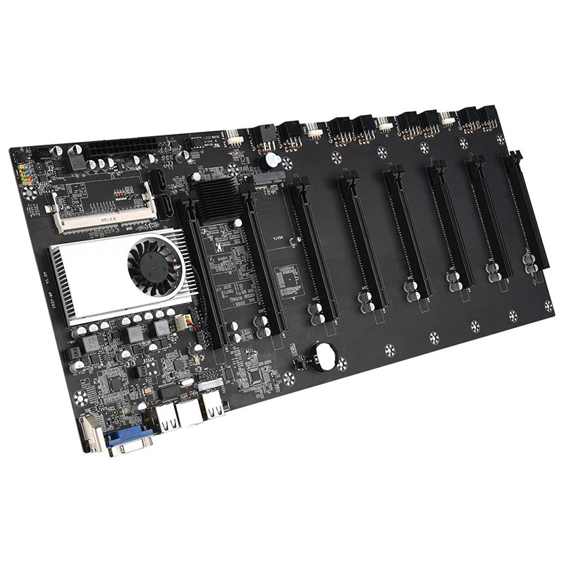 Mining Motherboard CPU Set 8 Video Card Slot DDR3 Memory Integrated VGA Low Power Consumption Exquisite and durable