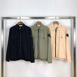 2020ss Kompass Abzeichen Hülse Gepatcht Frauen Männer Tasche Jacke Mantel Männer Streetwear Drehen Unten Kragen Jacke Windjacke