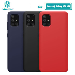 Image 1 - Per Samsung Galaxy Caso Involucro A51 NILLKIN Liquid Smooth Custodia In Silicone Per Samsung Galaxy A71 A51 Della Copertura di Lusso di Protezione Borse