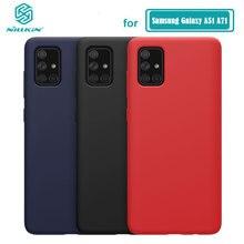 Pour Samsung Galaxy A51 boîtier NILLKIN liquide lisse étui en Silicone pour Samsung Galaxy A71 A51 couverture sacs de protection de luxe