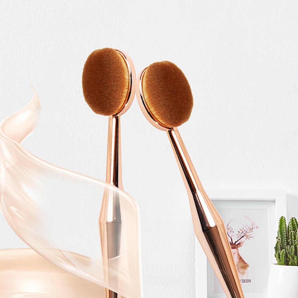 メイクアップブラシ歯ブラシ形新美容器化粧ブラシ多機能ベースオーバルブラシローズゴールド Dropshipping1 個