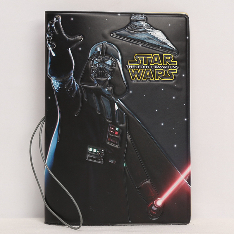 Travel Accessories Cartoon Star Wars Passport Cover Wallets Bag ID Address Holder Portable PU Leather Men Women Card Case