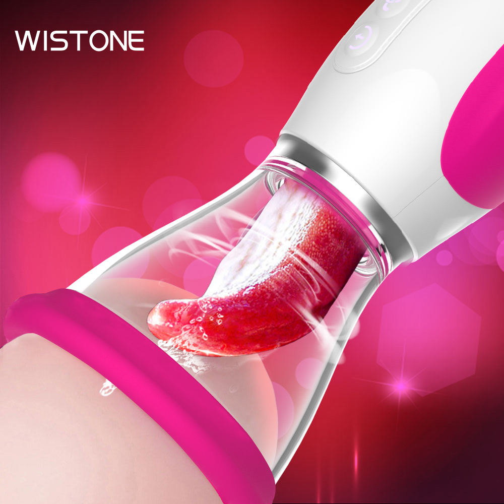 Vagina Sucking Lick Vibrator Woman Oral Sex Suction Clitoris Nipple Stimulation Massagers Female Masturbation Erotic Sex Toy