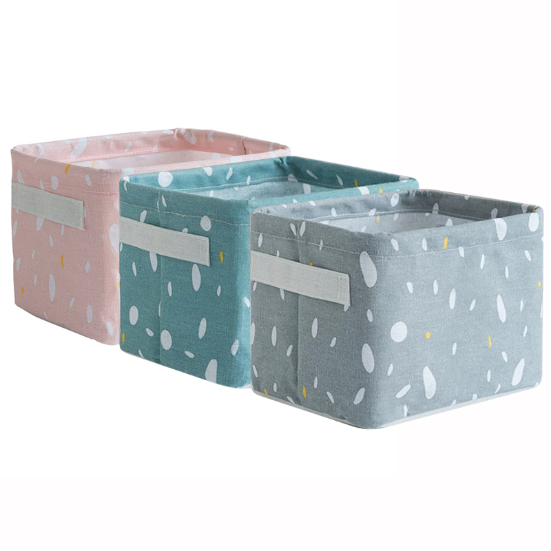 Waterproof Desktop Storage Basket Miscellaneous Underwear Toy Storage Box Cosmetic Organizer Stationery Container Laundry Basket