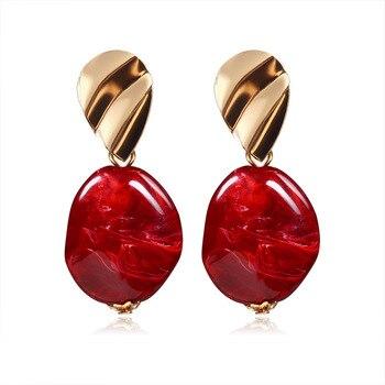 Nueva Declaración pendientes de botón pendientes para mujeres de moda pendientes de...
