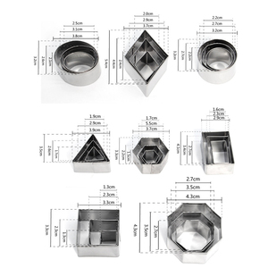 Image 3 - 2 4cm 24pcs/Lot Stainless Steel Geometry Round Square Clay Cutter Designer DIY Ceramic Pottery Polymer Clay Craft Cutting Mold