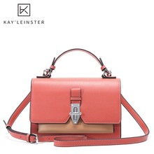 Genuine Leather Panelled Women Crossbody Bags Fashion Casual Female Shoulder