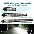 12D 8 15 20 дюймов 60 Вт 120 180W светодиодный рабочий светильник баров комбо 4x4 внедорожный светодиодный светильник бар для трактора лодка 4WD грузов...