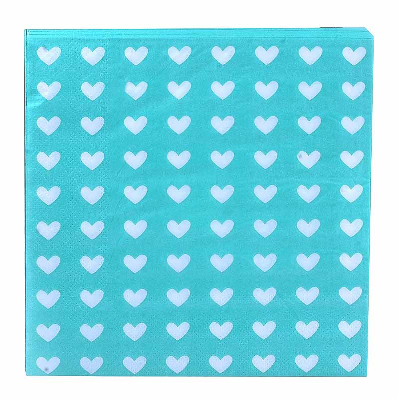 Heart Multi-color Printed Napkin Stephen Kleenex Banquet Paper Placemat Napkin Hotel Can Ting Zhi Banquet Paper