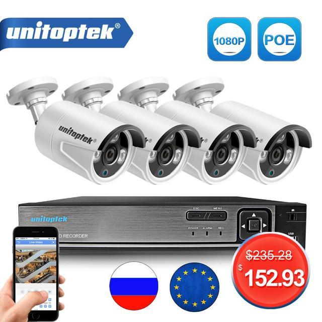 4CH 4MP POE NVR Kit de système de vidéosurveillance 2MP étanche balle IP caméra extérieure Plug And Play sécurité système de Surveillance vidéo ensemble P2P