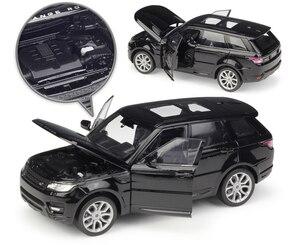 Image 3 - Модель литая автомобиля Welly масштаб 1:24, Игрушечная машина Land Rover Range Rover Sport SUV, игрушечный автомобиль из металлического сплава для детей, коллекция подарков