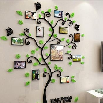 3D DIY Assembly Photo Frame Tree Bathroom Bedroom Departments Dining Room Entryway Frames Kids Decor Living Room Rooms Wall Decor