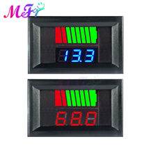 Indicador de nível de carga da bateria de carro 12v 24v 36 48v 60v 72v bateria de lítio capacidade medidor tester display led tester voltímetro