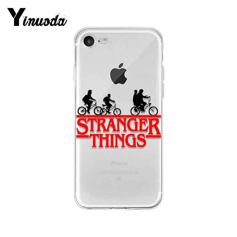 Yinuoda Stranger şeyler noel ışıkları TPU yumuşak silikon telefon kılıfı iPhone 8 7 6 6S artı X XS MAX 5 5S SE XR 10