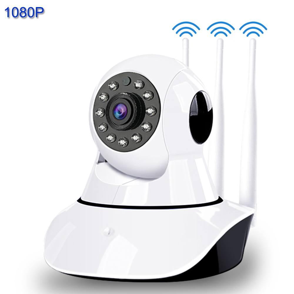 1080P 3 Antenna IP Camera Smart WiFi Signal Enhancement IR Night Vision Surveillance Camera Home Security Wireless Baby Monitor