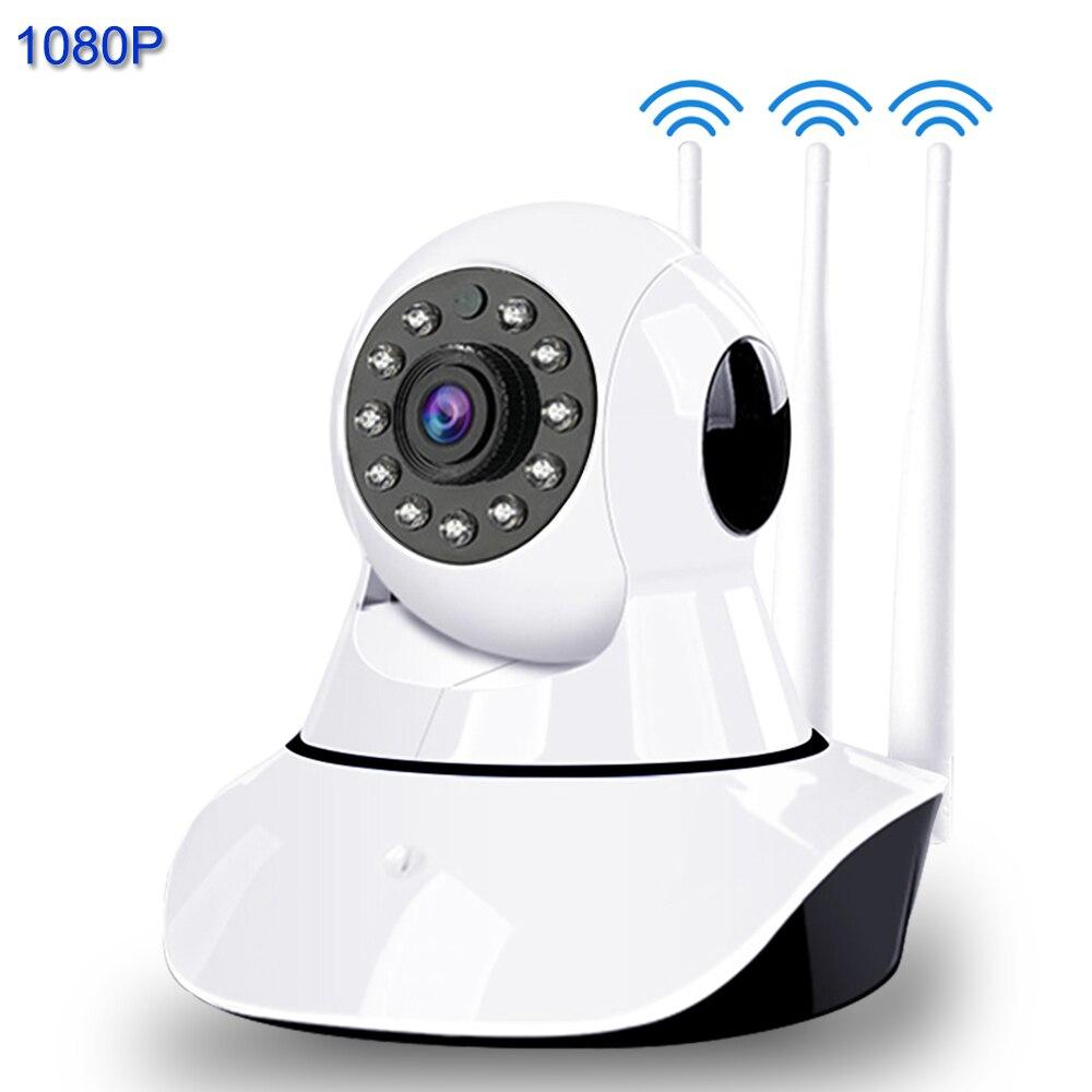 Ip-камера 1080 P, умная WiFi, 3 антенны, усиление сигнала, ИК, ночное видение, камера наблюдения, Домашняя безопасность, беспроводной детский монито...