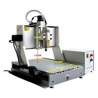 3 eixo da máquina de gravura 6040zh 1.5kw do pwb da linha central roteador madeira 130mm espessura material aceitável|Roteadores de madeira| |  -
